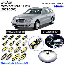 24 Bulbs Cool White LED Interior Light Kit For Mercedes Benz E-Class W211 Wagon