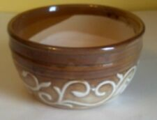 "Lovely Ceramic Flower Pot Bowl, 7 3/4"" across, New, Tan Brown"