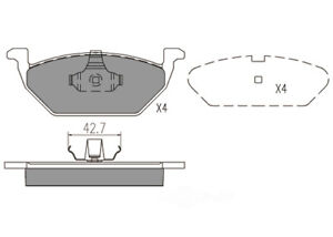 Disc Brake Pad Set-Premium Semi Metallic Pads Front Dash 4 Brake MFD768