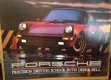 Porsche 911 Precision Driving School With Derek Bell Car Poster Extremely Rare!