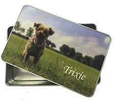 STAGNO personalizzato per dolcetti per animali cane gatto etc, Fotografia TIN, regalo per il vostro animale domestico