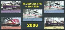 BRD Bund 2006 Eisenbahnen Mi.2560-2563 NK + 2567 SKB gestempelt LUXUS!