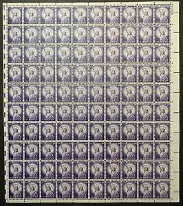 US #1035e 1966 3c Statue of Liberty Sheet of 100 TAGGED, MNH F-VF