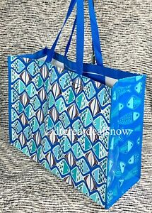 NWOT VERA Bradley in GO FISH BLUE MARKET XL Tote RECYCLABLE Shopping, Gift Bag