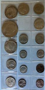 16 verschiedene Münzen USA