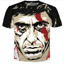 New Fashion Womens/Mens Scarface Al Pacino Funny 3D Print Casual T-shirt UK464