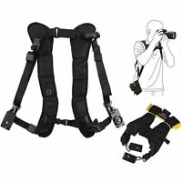 Black Double Shoulder Sling Belt Quick Rapid Strap for Sony DSLR-A580L DSLR-A580