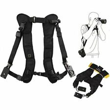 For Canon Powershot SX40 HS Black Double Shoulder Sling Belt Quick Rapid Strap