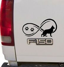 Black Infinity© German Shepherd Dog Decal Sticker for Car Truck SUV Van LAPTOP