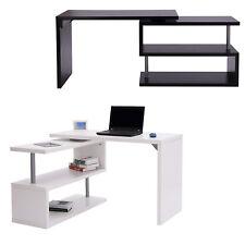 Homcom bureau D'informatique table pour ordinateur 2 positions avec Etagère Noir