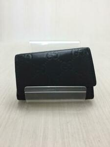 Gucci  Leather 138093 0416 Gg Leather Black Fashion Key case 904 From Japan