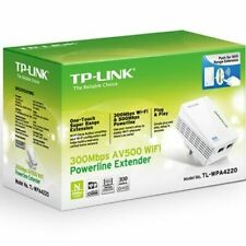 TP LINK AV600 POWERLINE TWIN HOMPLUGS 300MBPS WIFI, 600MBPS WIRED. DBL ETHERNET