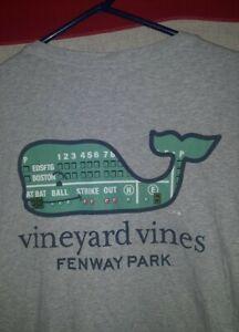 Vineyard Vines Boston Red Sox Fenway Park T-Shirt Gray Men's extra large XL 2xl?