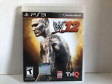 WWE'12 (Sony PlayStation 3, 2011) PS3