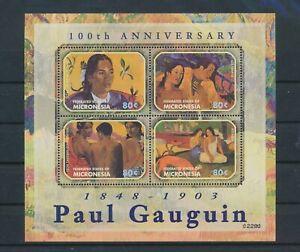 LO40801 Micronesia Gauguin art paintings good sheet MNH