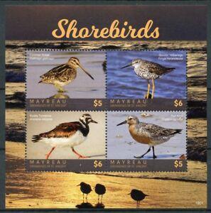 Mayreau Grenadines St Vincent 2018 MNH Shorebirds Waders 4v M/S Birds Stamps