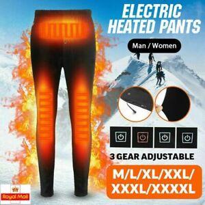 Men Women Electric USB Heated Warm Pants Winter Warm Heating Elastic Trousers