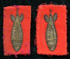 WWI Trench Mortar Patches of Lt. Wm A. Laine, Ordnance Dept., with Drinking Cup