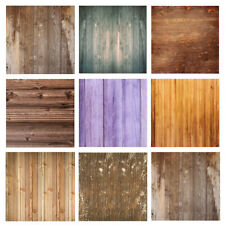 2x3ft Vintage Vinyl Wood Plank Board Background Studio Photo Backdrop Show Props