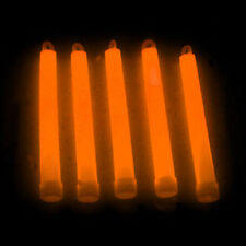 "50 6"" Premium Thick Party Light Glow Sticks ORANGE"