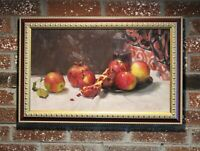 Oil painting on canvas, Still Life, Russian Artist, signed, dated