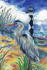 """Lighthouse Heron"" (12.5"" x 18"") Garden Flag by Toland"
