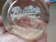 More details for a vintage butlins - in the heartland of england clear paperweight
