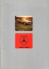 Mercedes-Benz SL R107 1975-80 UK Market Sales Brochure 350 450