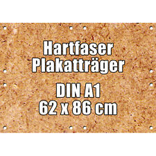 100 McPoster Profi-Hartfaser DIN A1 - 620 x 860 x 3,0 mm | gebohrt | 1000 kg/m³