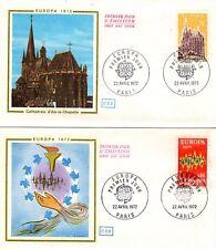 1714/5+ FDC  2 ENVELOPPES  1er JOUR  CEF EUROPA 1972
