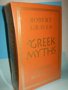 New Sealed hardcover Robert Graves The Greek Myths I & II in sheath w/24K gold t