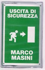 MARCO MASINI USCITA DI SICUREZZA  MC K7 MUSICASSETTA SIGILLATA!!!