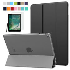 Smart Cover f. Apple iPad 9.7 2017 New Lederimitat Case Schutzhülle+Folie+Pen-3