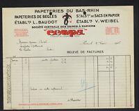 """PARIS (I°) USINES à PAPIERS / PAPETERIES du BAS-RHIN & de BEGLES """"CENPA"""" en 1936"""