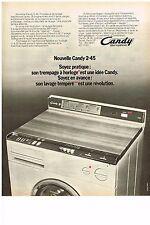 PUBLICITE  1972    CANDY   lave linge machine à laver 2.45