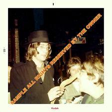 The Beatles JOHN LENNON SNAPSHOT LEAVING STUDIO 1968 DURING WHITE ALBUM SESS 5x5
