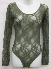 Nuevas señoras floral Encaje Body Top Body Leotard Para Mujer Top 4 Colores 8-14