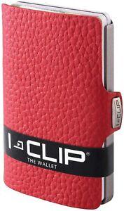 I-CLIP Original Silver Leder Geldbörse, Kartenetui, Wallet Kartenhalter Geld