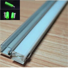 10pcs 1m slim 12*8mm flat led aluminium profile for 8mm strip,led bar light