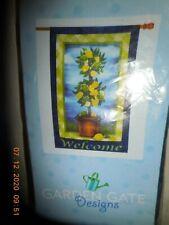 """New listing Garden Gate Design Welcome Banner 25"""" x 38"""" Lemon Tree"""