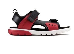 Clarks Boys Sandal Rocco Tide Red Size 12 G RRP £34