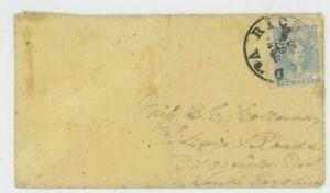 Mr Fancy Cancel CSA 2e SHEET MARGIN MILKY BLUE COVER TIED RICHMOND 1862 CDS