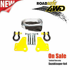 4WD RATED RECOVERY POINTS TOW POINTS 4X4 Toyota Prado 120 Series