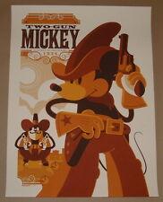Two Gun Mickey Mouse Movie Poster Print Tom Whalen 2011 Disney Mondo Art