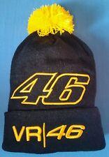 NEW VR46 Valentino ROSSI Adult Beanie Bobble Hat BLACK - ORANGE