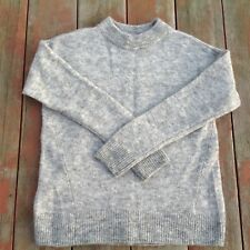 b0fd485dc8d H&M Womens Pullover Sweater Soft Light Gray Fuzzy Wool Blend Crew Neck Size  XS