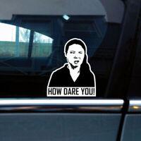 How Dare you ! Greta funny meme Decal drift jdm car sticker wind TDO