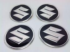 SUZUKI 4 x 60mm Alu Emblem Felgen Aufkleber Logo Nabendeckel Nabenkappen
