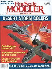 Fine Scale Modeler Magazine September 1991 Shelby GT350H / Israeli F-15
