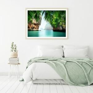Sea with Islands Scenery View Print Premium Poster High Quality choose sizes